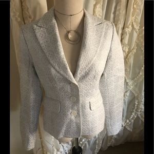Michael Kors white and silver blazer